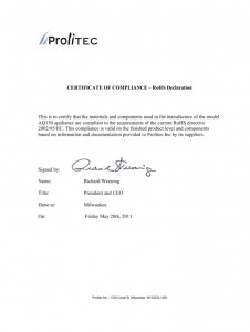 declaration Prolitec